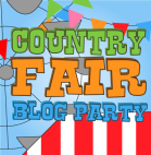 country fair blog party button